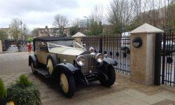 1927 Vintage Rolls Royce Phantom I convertible in Ivory White_