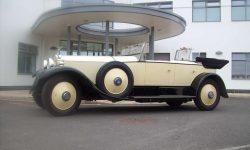 1927 Vintage Rolls Royce Phantom I convertible in Ivory White__
