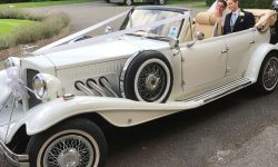1930's 4 door long bodied Beauford open-top tourer in White 12