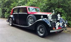 1937 Vintage Rolls Royce Phantom Continental Sports Saloon in Red over Black