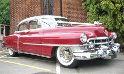 1950 Cadillac 4 door Saloon in Cream over Red 3 en