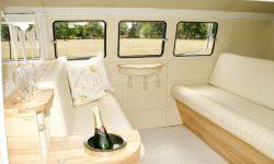 1950's VW split screen Campervan in White interior