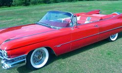 1959 Cadillac convertible in Festival Red 1
