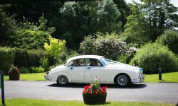 1961 Jaguar MK II in Old English White with chrome wire-wheels 2
