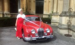 1964 Red MK II Jaguar with chrome wire-wheels 5