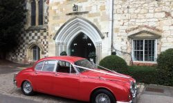 1964 Red MK II Jaguar with chrome wire-wheels 7