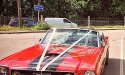 1965 Ford Mustang convertible in Red 10