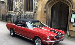 1965 Ford Mustang convertible in Red 16
