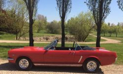 1965 Ford Mustang convertible in Red 3