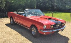 1965 Ford Mustang convertible in Red 6