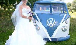 VW Campervan in Blue over White 2