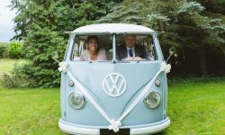 VW Campervan in White and Baby Blue 3