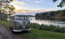 VW Campervan in White over Beige 2