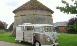 VW Campervan in White over Beige 4