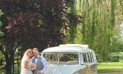 VW Campervan in White over Beige 6