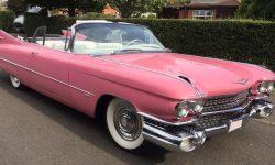 iconic 1959 Pink Cadillac convertible