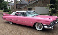 iconic 1959 Pink Cadillac convertible 3