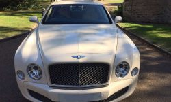 Latest model Bentley Mulsanne in White with cream leather interior and private plates 12