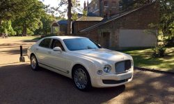 Latest model Bentley Mulsanne in White with cream leather interior and private plates 13