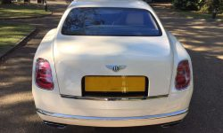 Latest model Bentley Mulsanne in White with cream leather interior and private plates 14