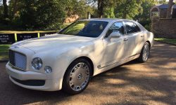 Latest model Bentley Mulsanne in White with cream leather interior and private plates 15