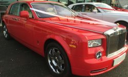 Phantom in Red with cream leater interior (latest shape)
