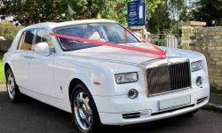 Rolls Royce Phantom facelift model in White interior new 3