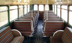 39 passenger AEC Single Deck RF Bus in Gold (interior)