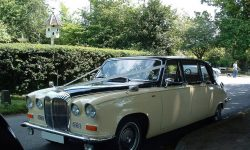 Classic style Daimler Limousine in Black and Cream