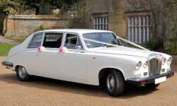 Classic style Daimler Limousine in White 3